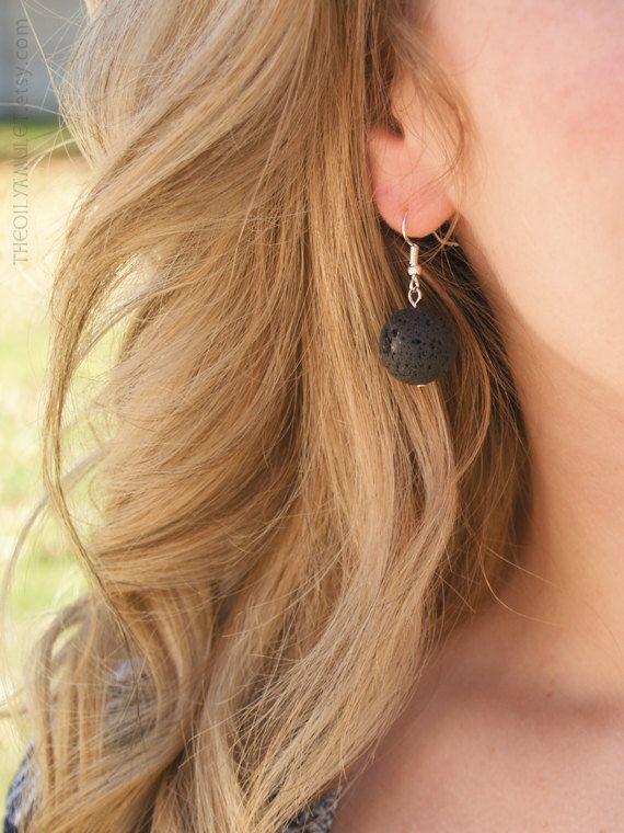 Lava Rock diffusing earrings