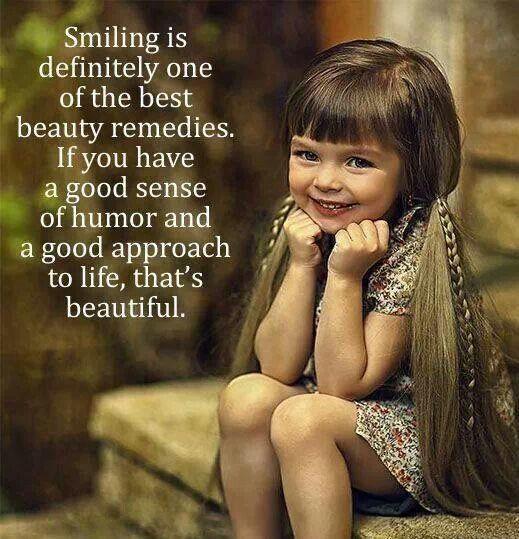 Cutie-patootie smile.