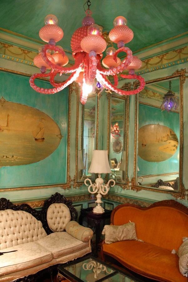 octopus chandelier adam wallacavage places