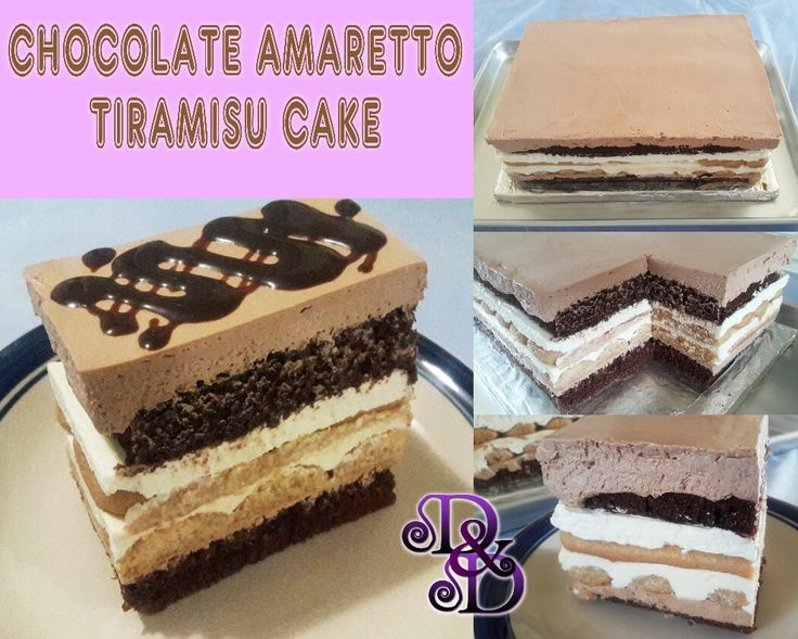 Chocolate Amaretto Tiramisu Cake