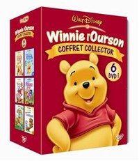 Coffret DVD Winnie l'Ourson Disney - Cadeaux de Noël - Le héros préféré des tout -petit en 6 DVD pour écouter et regarder Winnie et ses petits amis dans de nouv