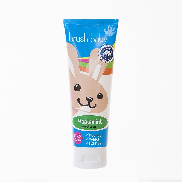 Brush-Baby Toothpaste - Pasta do zębów dla dzieci 0-3l. o smaku jabłkowo-miętowym