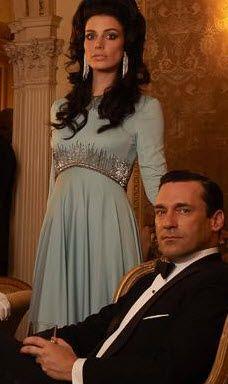 my kind of vintage megan mad men love the dress
