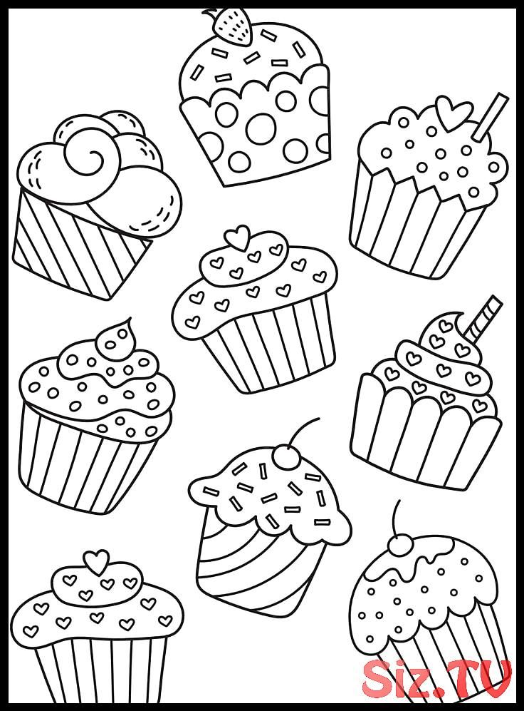Pin By Sarah Hoover On Kids Activities Cupcake Coloring Pages