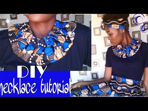 African Print Fabric Bow necklace tutorial - YouTube