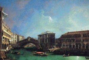 Giovanni Antonio Canal, detto il Canaletto, Il Ponte di Rialto da nord, 1725, Olio su tela, 91,4 x 135,8 cm
