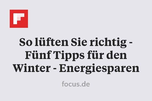 So lüften Sie richtig - Fünf Tipps für den Winter - Energiesparen http://flip.it/iV7X2