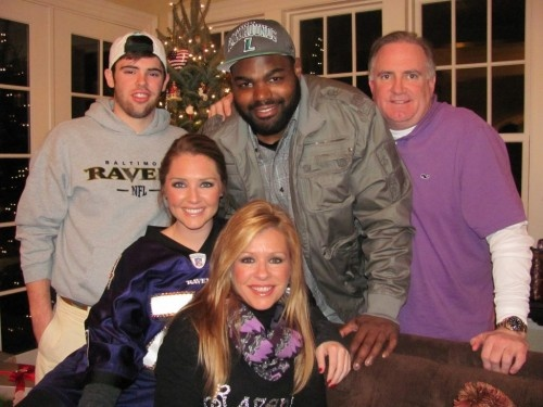 Michael oher family group photo