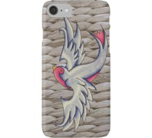 Blue Swallows iPhone Case/Skin by I Love the Quirky
