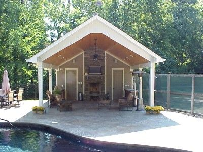 Pool house addition for the home outdoor spaces for Pool house additions