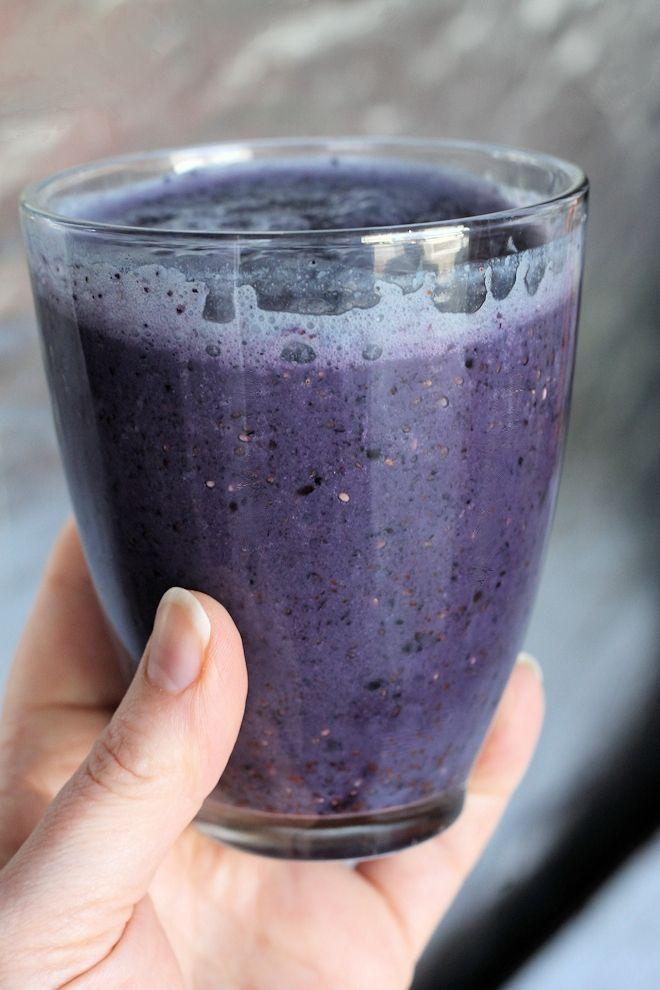 Chia Berry Smoothie Recipe (150 Calories & Vegan)