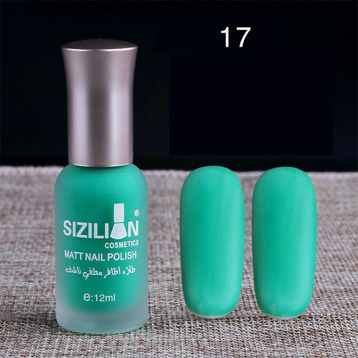 40 Colors 12ml Matte Dull Nail Polish Fast Dry Long-Lasting Nail Art Varnish Lac…