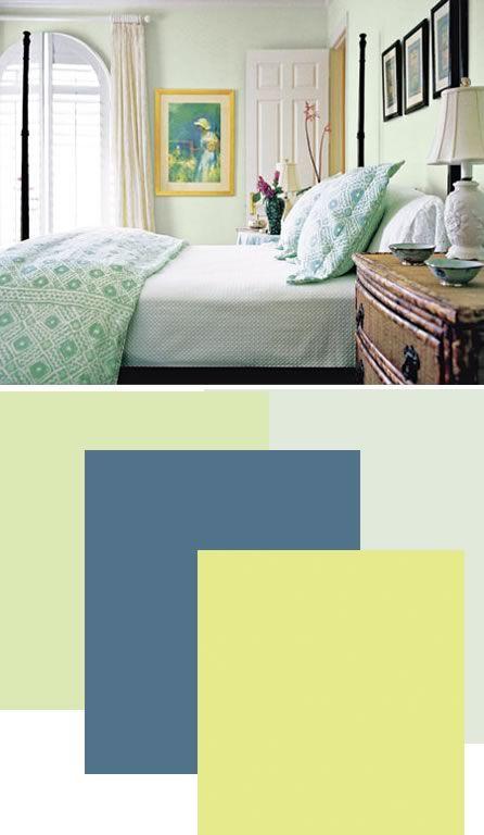 Pale green walls?