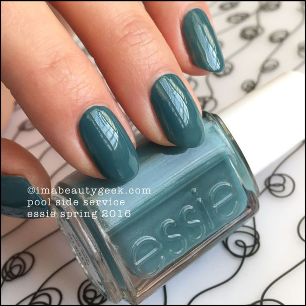 Essie Pool Side Service – Essie Spring 2016. Find the whole collection swatched & compared at imabeautygeek.com