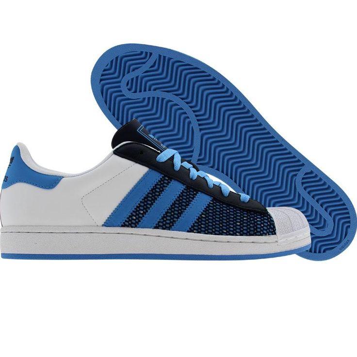 Adidas Superstar 1 (runninwhite / college blue / college navy). $89.99