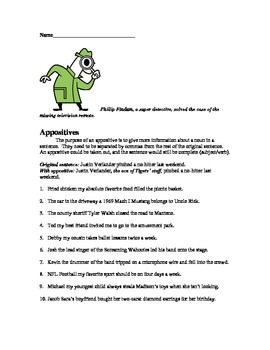 This is a 20 page complete unit that teaches the following comma rules: Separate a List/Series, Appositives, Dependent Clauses, Separating Dialogue, Direct Address, and Compound Sentences.  It contains reproducible worksheets, quizzes, and answer keys.