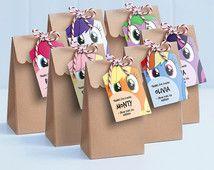 Mi pequeño Pony Lollie bolsa etiquetas - botín imprimible bolso / My Little Pony etiquetas / mi pequeño Pony de regalo etiquetas / Pinky Pie, Rainbow Dash, punto