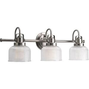 Progress Lighting Archie 3-Light Antique Nickel Vanity Fixture-P2992-81DI at The Home Depot