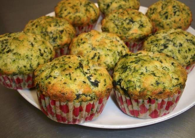 muffins de espinaca y parmesano postres faciles