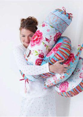 Pip Studio neck-roll Birds of Paradise white - Shabby Chic Cushions