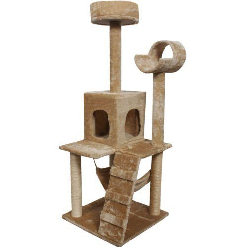 """Goplus 52"""" Cat Kitty Tree Tower Condo Furniture Scratch Post Pet Home Bed Beige >>> Check out the image by visiting the link."""
