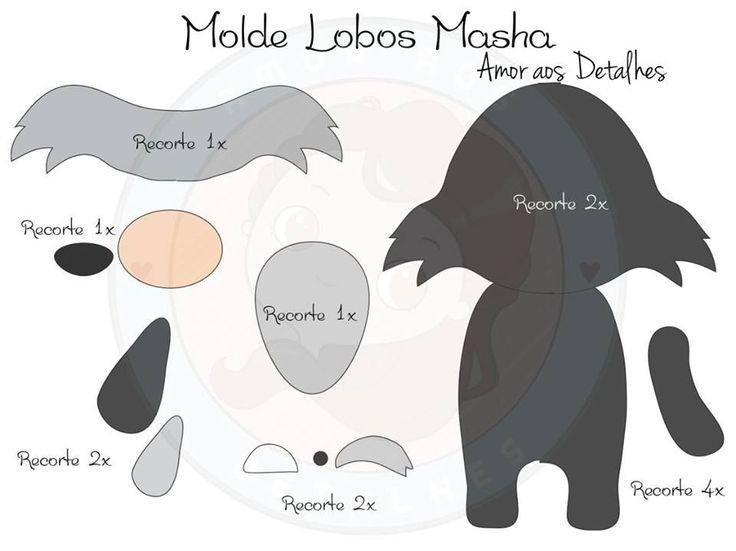 Masha e o Urso com molde