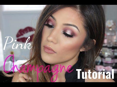 Spring Makeup Tutorial: Pink Champagne Halo Eyes - YouTube