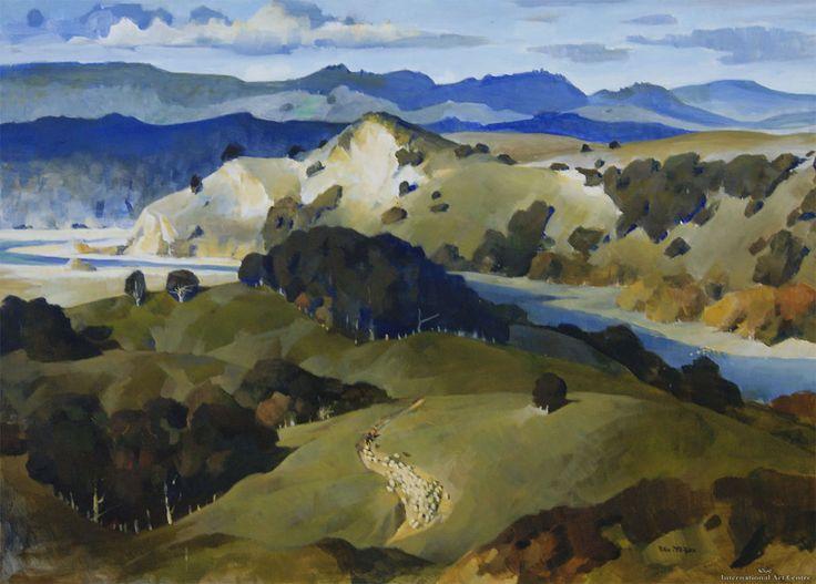 Peter McIntyre - Sheep Droving, Rangitikei