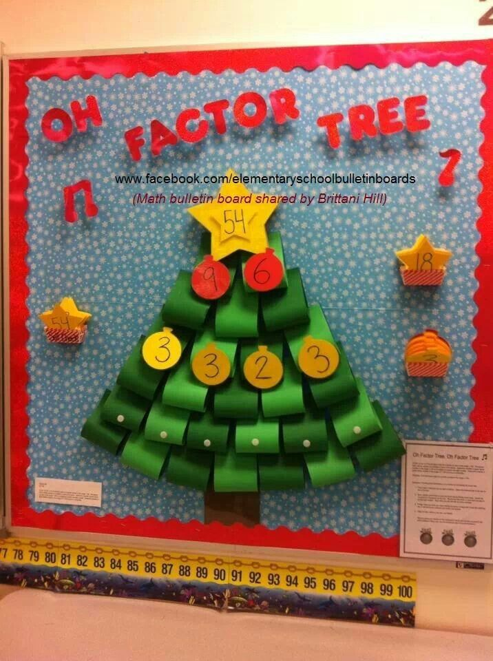 Classroom Christmas Tree Ideas ~ Best ideas about multiplication bulletin board on