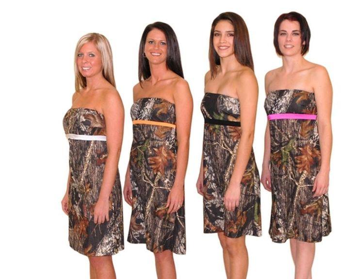 Camo Bridesmaid Dresses Under 200