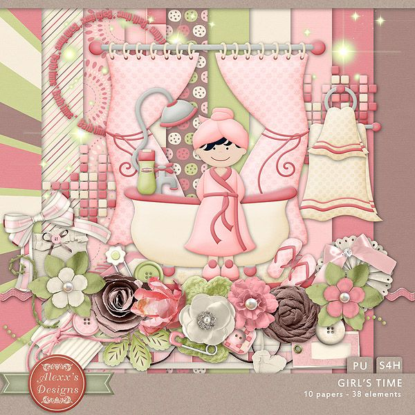 Girl's Time Kit by Alexx's Designs