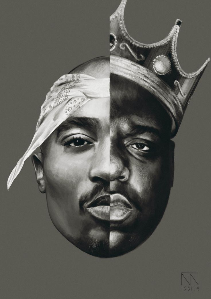 Cool Notorious B.I.G and Tupac Shakur Art - 2Pac