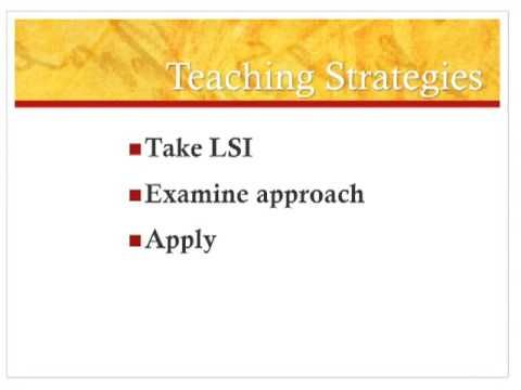 Kolb's Learning Style Inventory & How to Use It Effectively
