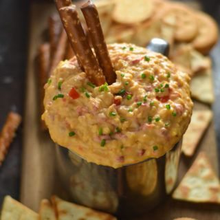 15 Minute Pimento Beer Cheese. This tangy, smoky, ultra-cheesy dip is exactly what you need for your next party. It's so simple to whip together, but huge on flavor, and tastes great at any temperature.