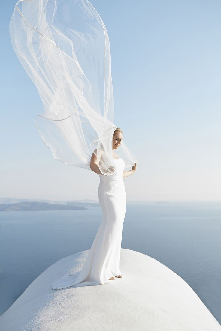 Veil, Magic, Bridge, Caldera View, Beauty, Happy, Moments, Santorini Weddings