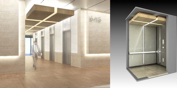 Floating soffit components | Reception/Elevator Lobby ...
