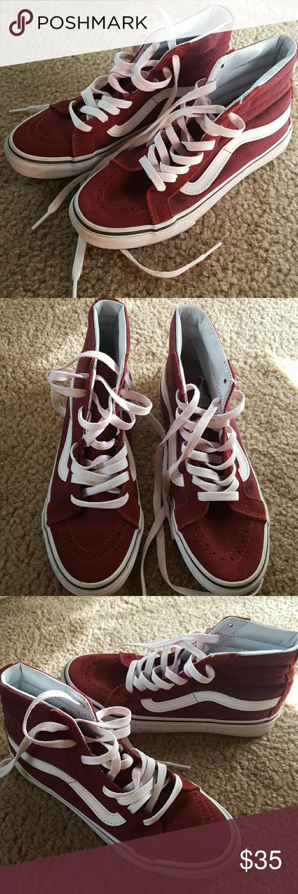 Maroon Skate High Vans Perfect fall shoes. Worn once. Vans Shoes Sneakers