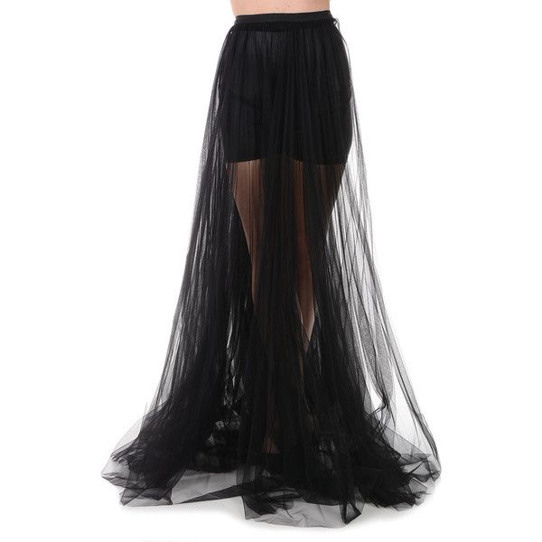 Marni Sheer Maxi Skirt (1.970 BRL) ❤ liked on Polyvore featuring skirts, black, see-through skirts, transparent maxi skirt, transparent skirt, floor length skirt and ankle length skirts