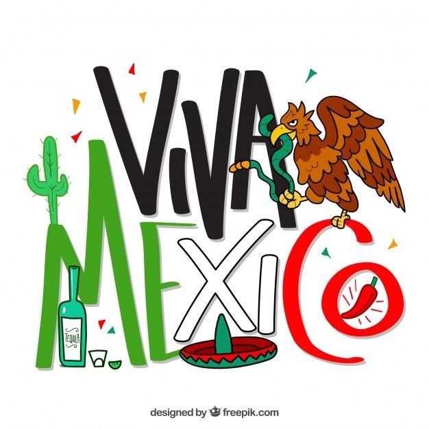 Viva Mexico Lettering Background With Ea Free Vector Freepik Freevector Background Food Menu Restaurant Viva Mexico Starbucks Art Mexican Art