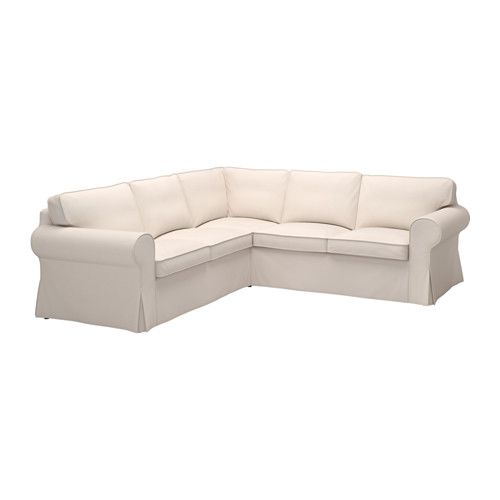 EKTORP Corner sofa 2+2 IKEA Seat cushion filled with high resilient foam and polyester fiber balls for soft seating comfort.