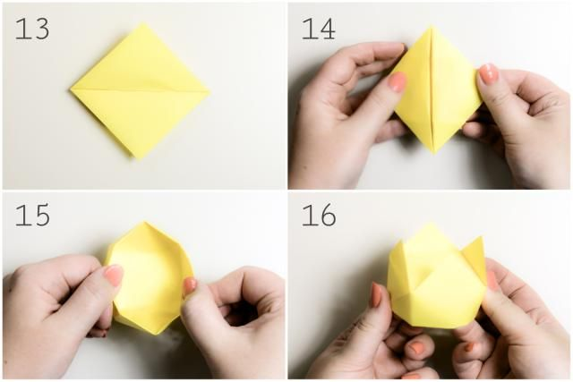 Origami Crown Box Tutorial: Origami Crown Box Instructions - Step 4