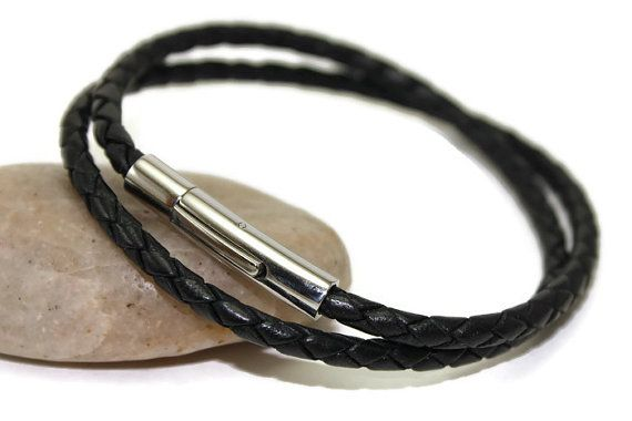 Wrap leather bracelet  braided bracelet  mens by LuckyBeadsBox