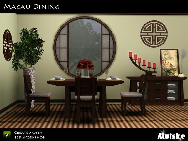 Macau dining room by mutske sims 3 downloads cc caboodle for Sims 3 dining room ideas