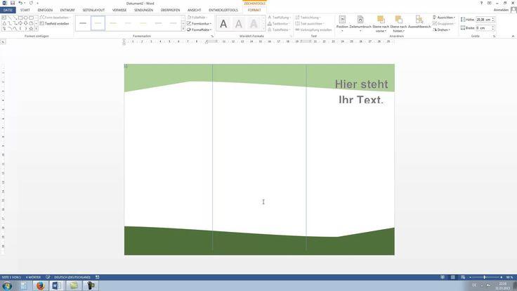 Flyer erstellen in Word 2010, 2013 [HD, Tutorial, German, Deutsch]