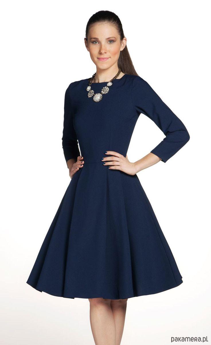 Sukienka ZUZA Midi Granat - sukienki - Pakamera.pl