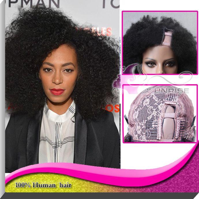 Дешевле афро странный ртутной Glueless у части парик 100% бразильская сторона человеческого волоса у части парик бесплатная доставка