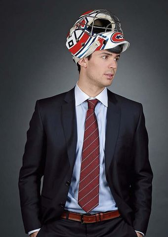 Carey Price, casque, bien habiller