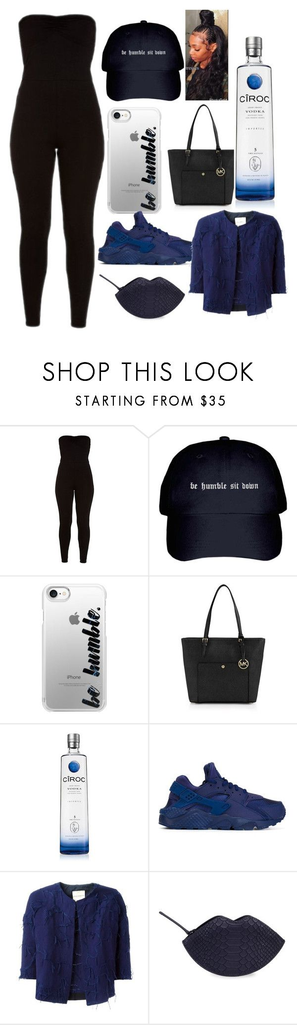 """""""Be humble"""" by lannaslayallday ❤ liked on Polyvore featuring Casetify, MICHAEL Michael Kors, NIKE, Erika Cavallini Semi-Couture and Kendall + Kylie"""