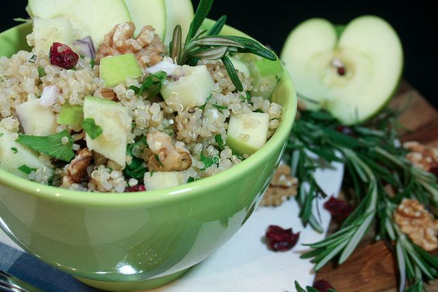 Warm Apple and Feta Quinoa Salad. Feta on EVERYTHING!