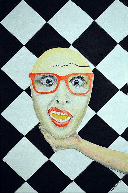 Surprised by life? / Surprissed à la vie? - Painting,  40x60x2 cm ©2015 przez Maga Smolik -  Malarstwo